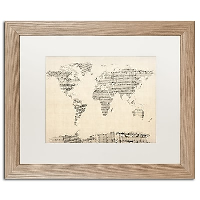 Trademark Fine Art ''Old Sheet Music World Map'' by Michael Tompsett 16