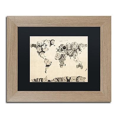 Trademark Fine Art ''Old Clocks World Map'' by Michael Tompsett 11