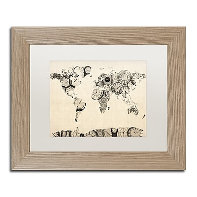 Trademark Fine Art ''Old Clocks World Map'' by Michael Tompsett 11