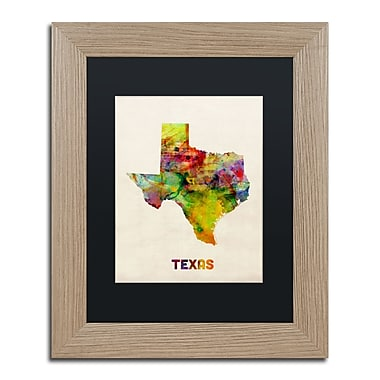 Trademark Fine Art ''Texas Map'' by Michael Tompsett 11