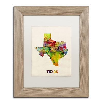 Trademark Fine Art ''Texas Map'' by Michael Tompsett 11
