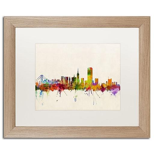"Trademark Fine Art ''San Francisco CA'' by Michael Tompsett 16"" x 20"" White Matted Wood Frame (MT0371-T1620MF)"