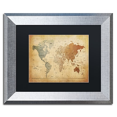 Trademark Fine Art ''Time Zones Map of the World'' by Michael Tompsett 11