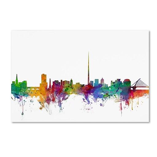 "Trademark Fine Art ''Dublin Ireland Skyline'' by Michael Tompsett 22"" x 32"" Canvas Art (MT0540-C2232GG)"