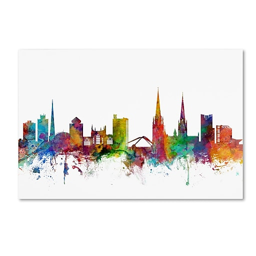 "Trademark Fine Art ''Coventry England Skyline'' by Michael Tompsett 30"" x 47"" Canvas Art (MT0541-C3047GG)"