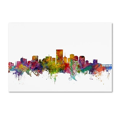 Trademark Fine Art ''Richmond Virginia Skyline'' by Michael Tompsett 30