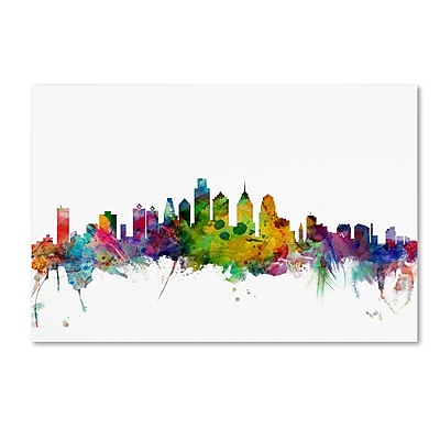Trademark Fine Art ''Philadelphia Pennsylvania Skyline'' by Michael Tompsett 12