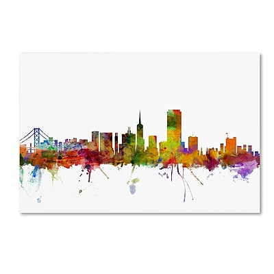 Trademark Fine Art ''San Francisco City Skyline'' by Michael Tompsett 12