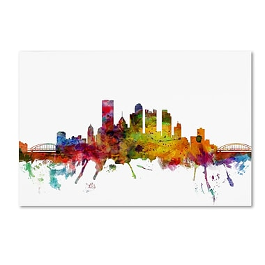 Trademark Fine Art ''Pittsburgh Pennsylvania Skyline'' by Michael Tompsett 30