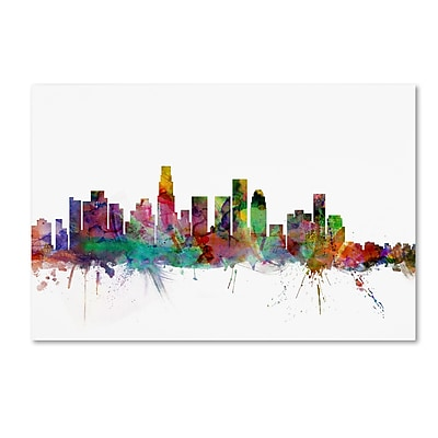 Trademark Fine Art ''Los Angeles California Skyline'' by Michael Tompsett 12