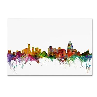 Trademark Fine Art ''Cincinnati Ohio Skyline'' by Michael Tompsett 12