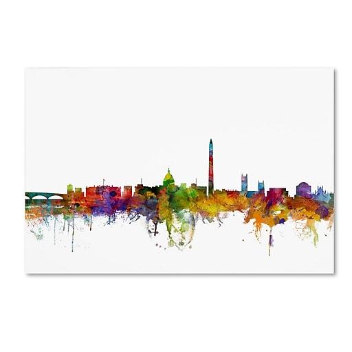 "Trademark Fine Art ''Washington DC Skyline II'' by Michael Tompsett 16"" x 24"" Canvas Art (MT0553-C1624GG)"