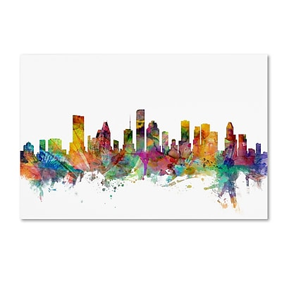 Trademark Fine Art ''Houston Texas Skyline'' by Michael Tompsett 30