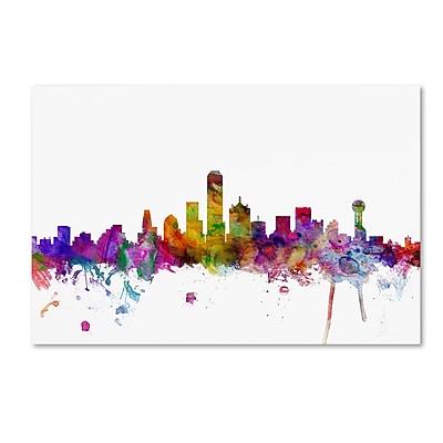 Trademark Fine Art ''Dallas Texas Skyline'' by Michael Tompsett 30
