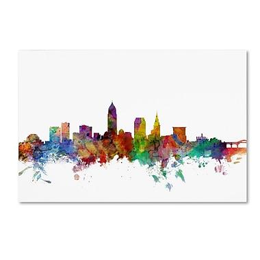 Trademark Fine Art ''Cleveland Ohio Skyline'' by Michael Tompsett 12