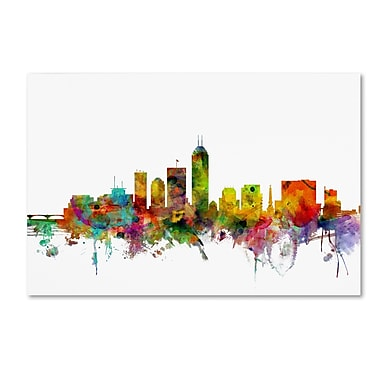 Trademark Fine Art ''Indianapolis Indiana Skyline'' by Michael Tompsett 30