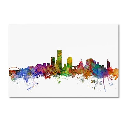 Trademark Fine Art ''Milwaukee Wisconsin Skyline'' by Michael Tompsett 12