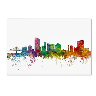 Trademark Fine Art ''Toledo Ohio Skyline'' by Michael Tompsett 16