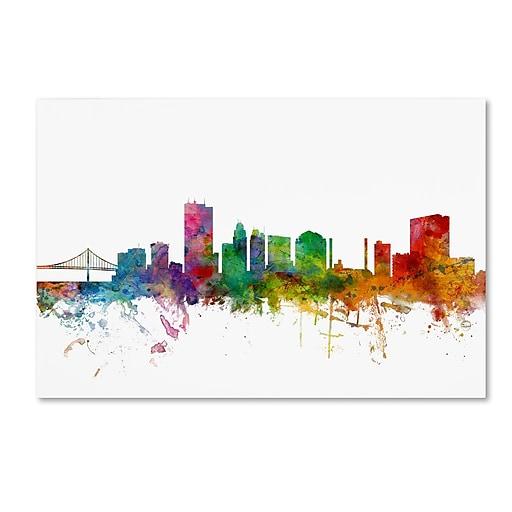 "Trademark Fine Art ''Toledo Ohio Skyline'' by Michael Tompsett 16"" x 24"" Canvas Art (MT0564-C1624GG)"