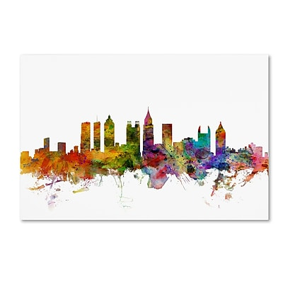 Trademark Fine Art ''Atlanta Georgia Skyline'' by Michael Tompsett 16