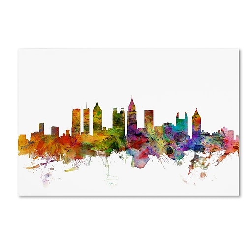 "Trademark Fine Art ''Atlanta Georgia Skyline'' by Michael Tompsett 22"" x 32"" Canvas Art (MT0566-C2232GG)"