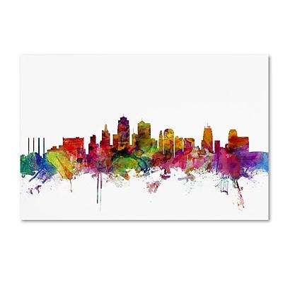 Trademark Fine Art ''Kansas City Skyline'' by Michael Tompsett 12