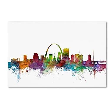 Trademark Fine Art ''St. Louis Missouri Skyline'' by Michael Tompsett 30