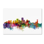 "Trademark Fine Art ''New Orleans Louisiana Skyline'' by Michael Tompsett 30"" x 47"" Canvas Art (MT0571-C3047GG)"