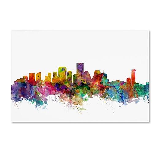 "Trademark Fine Art ''New Orleans Louisiana Skyline'' by Michael Tompsett 12"" x 19"" Canvas Art (MT0571-C1219GG)"
