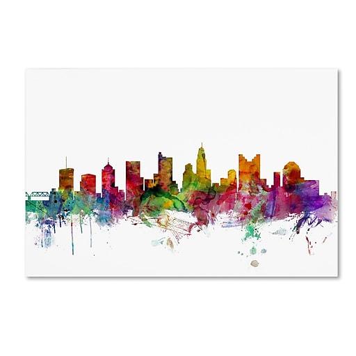 "Trademark Fine Art ''Columbus Ohio Skyline'' by Michael Tompsett 22"" x 32"" Canvas Art (MT0572-C2232GG)"