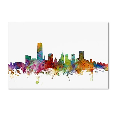 Trademark Fine Art ''Oklahoma City Skyline'' by Michael Tompsett 16