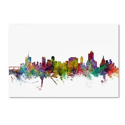 Trademark Fine Art ''Tulsa Oklahoma Skyline'' by Michael Tompsett 22