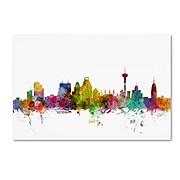 "Trademark Fine Art ''San Antonio Texas Skyline'' by Michael Tompsett 30"" x 47"" Canvas Art (MT0579-C3047GG)"