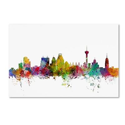 Trademark Fine Art ''San Antonio Texas Skyline'' by Michael Tompsett 22