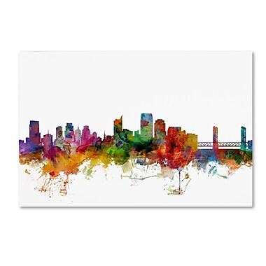 Trademark Fine Art ''Sacramento California Skyline'' by Michael Tompsett 22