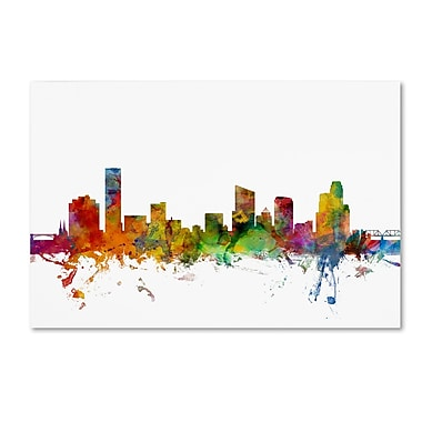 Trademark Fine Art ''Grand Rapids Michigan Skyline'' by Michael Tompsett 22