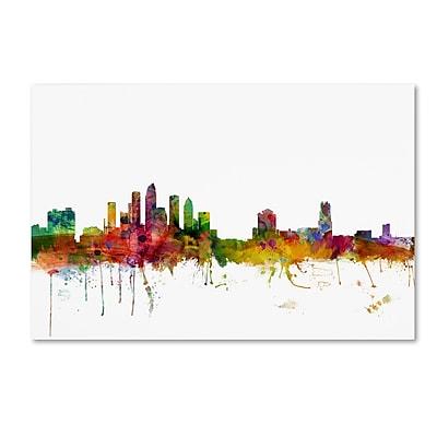 Trademark Fine Art ''Tampa Florida Skyline'' by Michael Tompsett 22