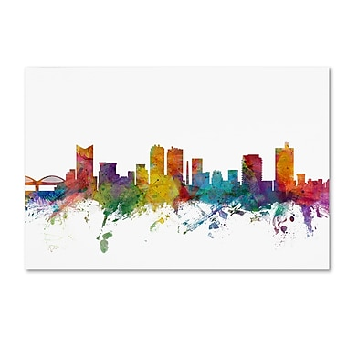 Trademark Fine Art ''Fort Worth Texas Skyline'' by Michael Tompsett 22