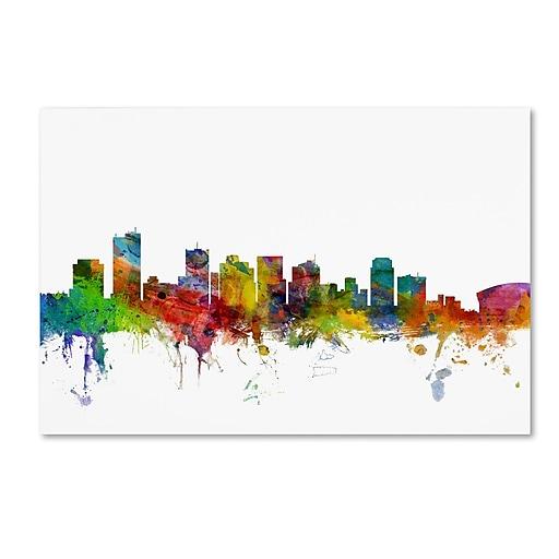 "Trademark Fine Art ''Phoenix Arizona Skyline'' by Michael Tompsett 16"" x 24"" Canvas Art (MT0587-C1624GG)"