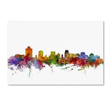 Trademark Fine Art ''Salt Lake City Skyline'' by Michael Tompsett 22