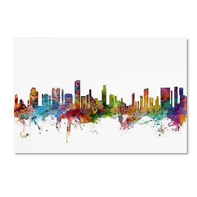 Trademark Fine Art ''Honolulu Hawaii Skyline'' by Michael Tompsett 22