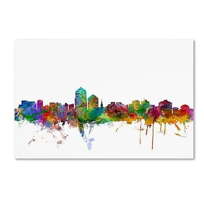 Trademark Fine Art ''Albuquerque New Mexico Skyline'' by Michael Tompsett 16