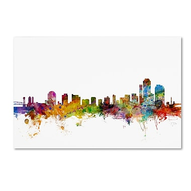 Trademark Fine Art ''Wilmington Delaware Skyline'' by Michael Tompsett 12