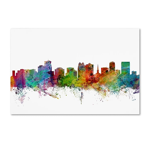 "Trademark Fine Art ''Orlando Florida Skyline'' by Michael Tompsett 30"" x 47"" Canvas Art (MT0596-C3047GG)"