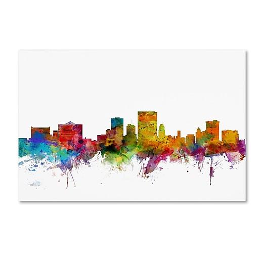 "Trademark Fine Art ''El Paso Texas Skyline'' by Michael Tompsett 12"" x 19"" Canvas Art (MT0598-C1219GG)"