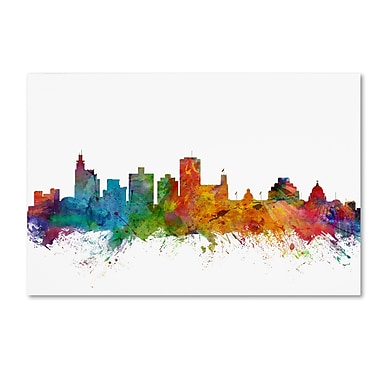 Trademark Fine Art ''Jackson Mississippi Skyline'' by Michael Tompsett 30