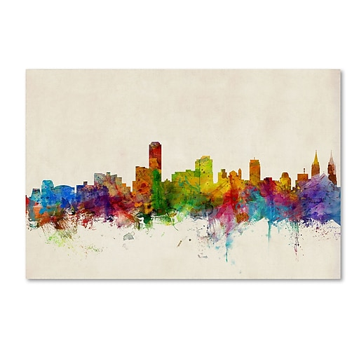 "Trademark Fine Art ''Adelaide Australia Skyline'' by Michael Tompsett 30"" x 47"" Canvas Art (MT0603-C3047GG)"