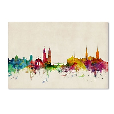 Trademark Fine Art ''Zurich Switzerland Skyline'' by Michael Tompsett 12