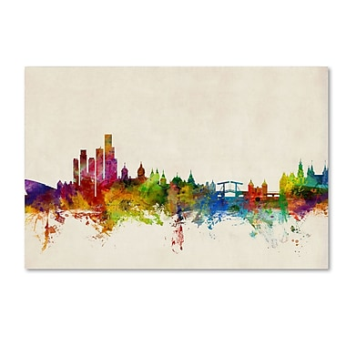 Trademark Fine Art ''Amsterdam The Netherlands Skyline'' by Michael Tompsett 30