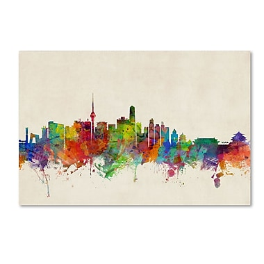 Trademark Fine Art ''Beijing China Skyline'' by Michael Tompsett 30